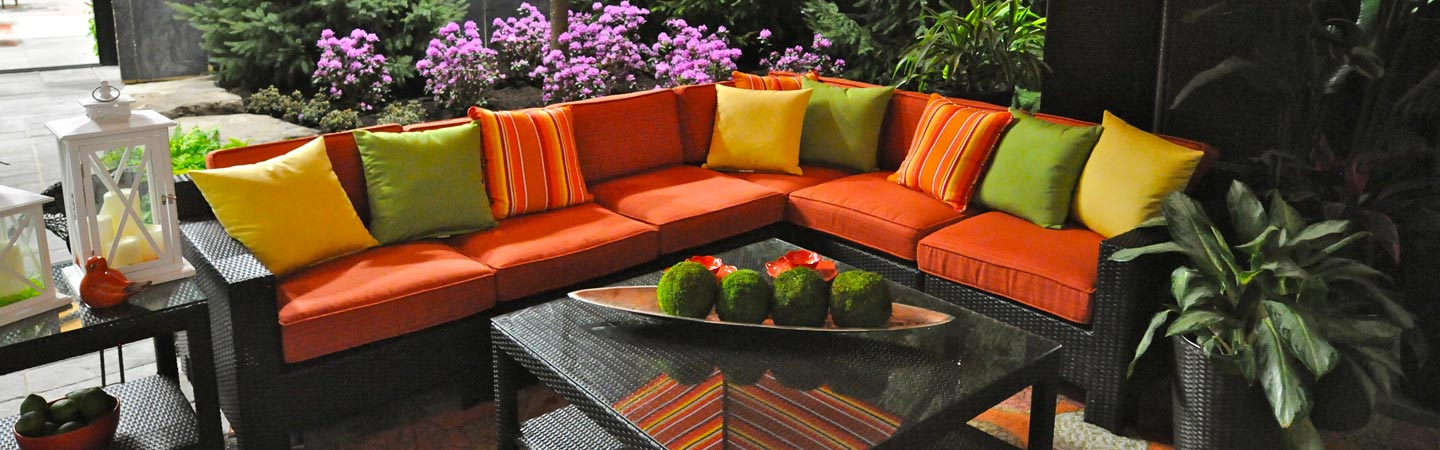Patio with Colorful Furniture